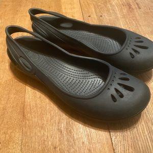 CROCS Black Flats
